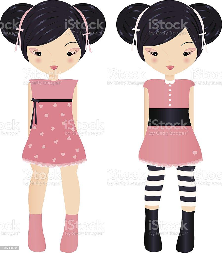 Little muñecas illustracion libre de derechos libre de derechos