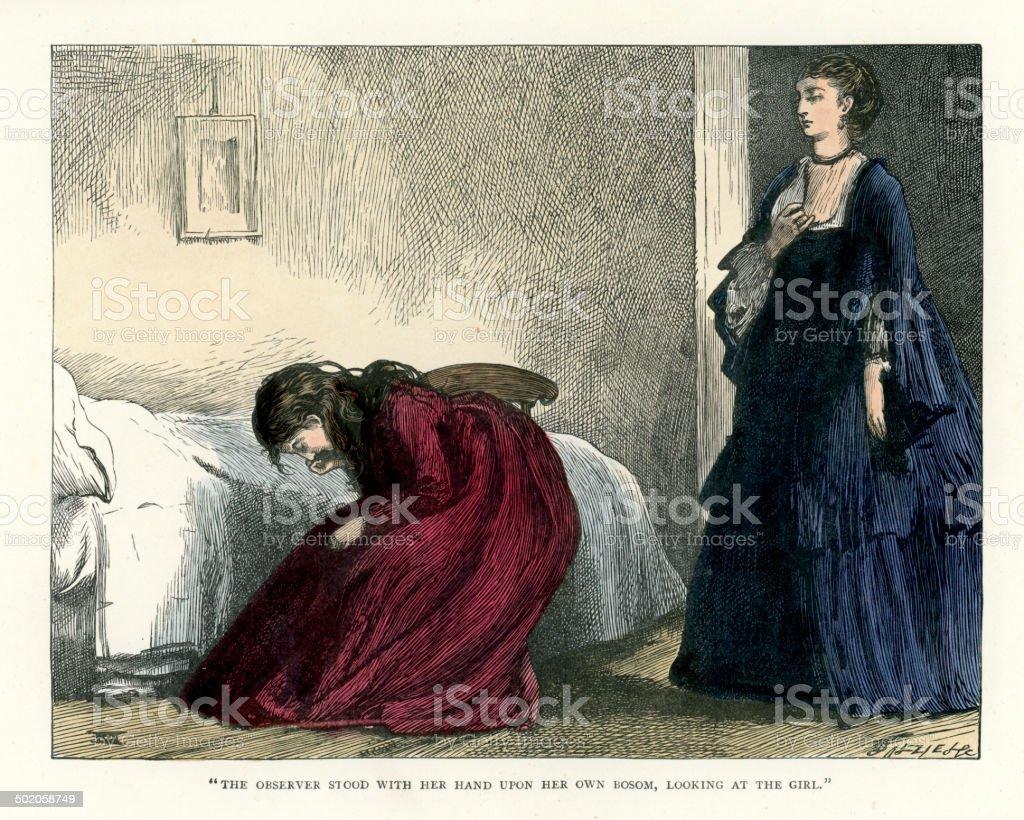 Little Dorrit by Charles Dickens royalty-free stock vector art