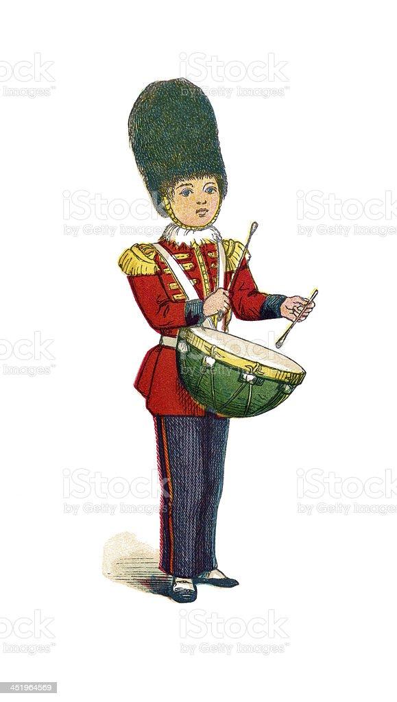 Little drummer boy royalty-free stock vector art