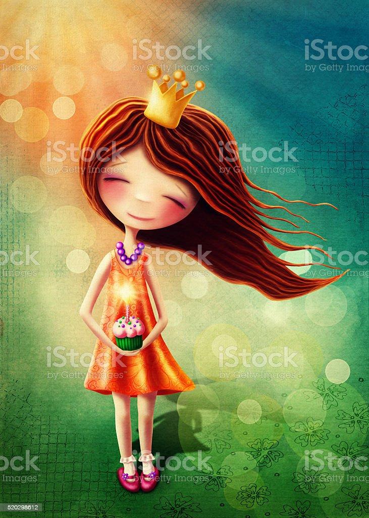 Little fairy girl stock photo