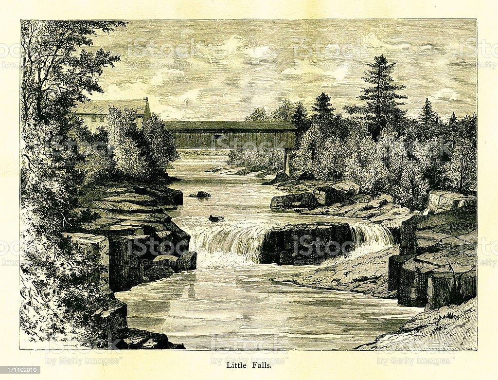 Little Falls, New Jersey royalty-free stock vector art