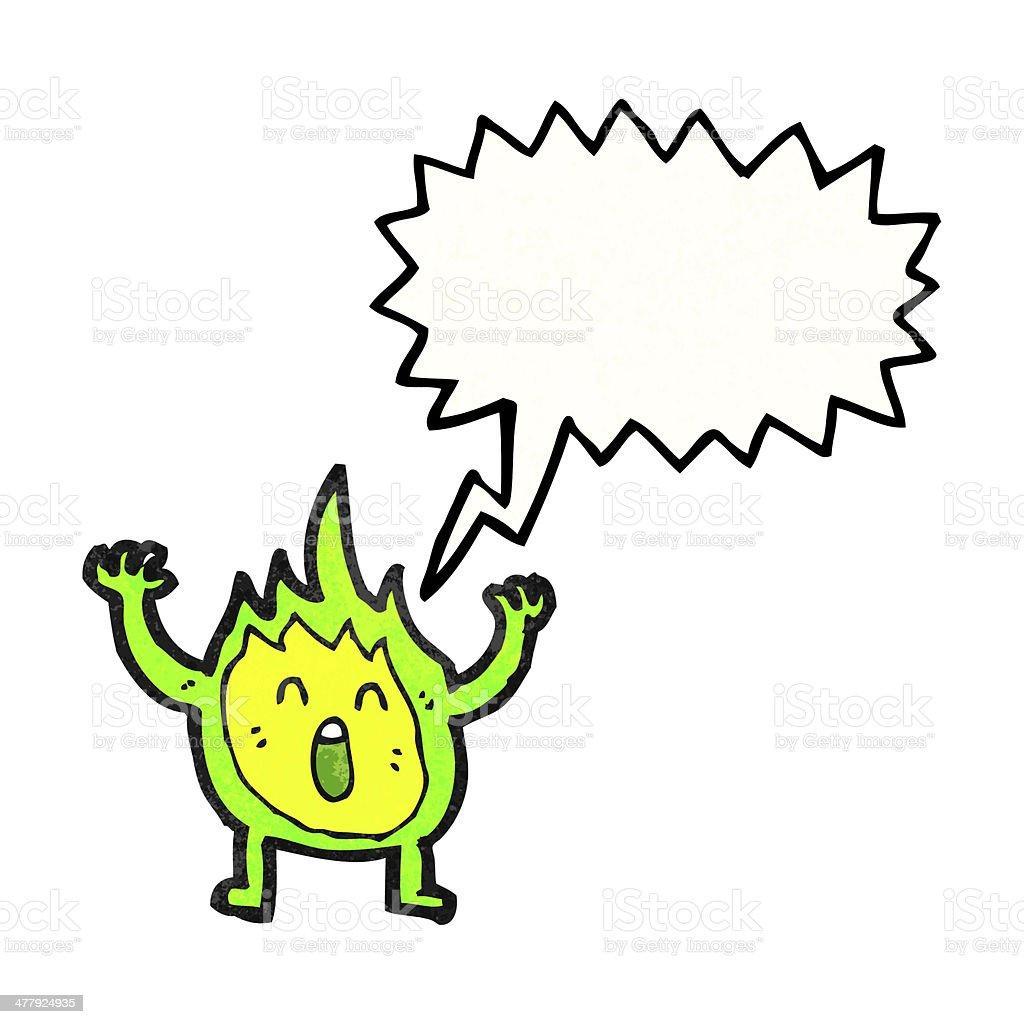 little flame creature cartoon royalty-free stock vector art