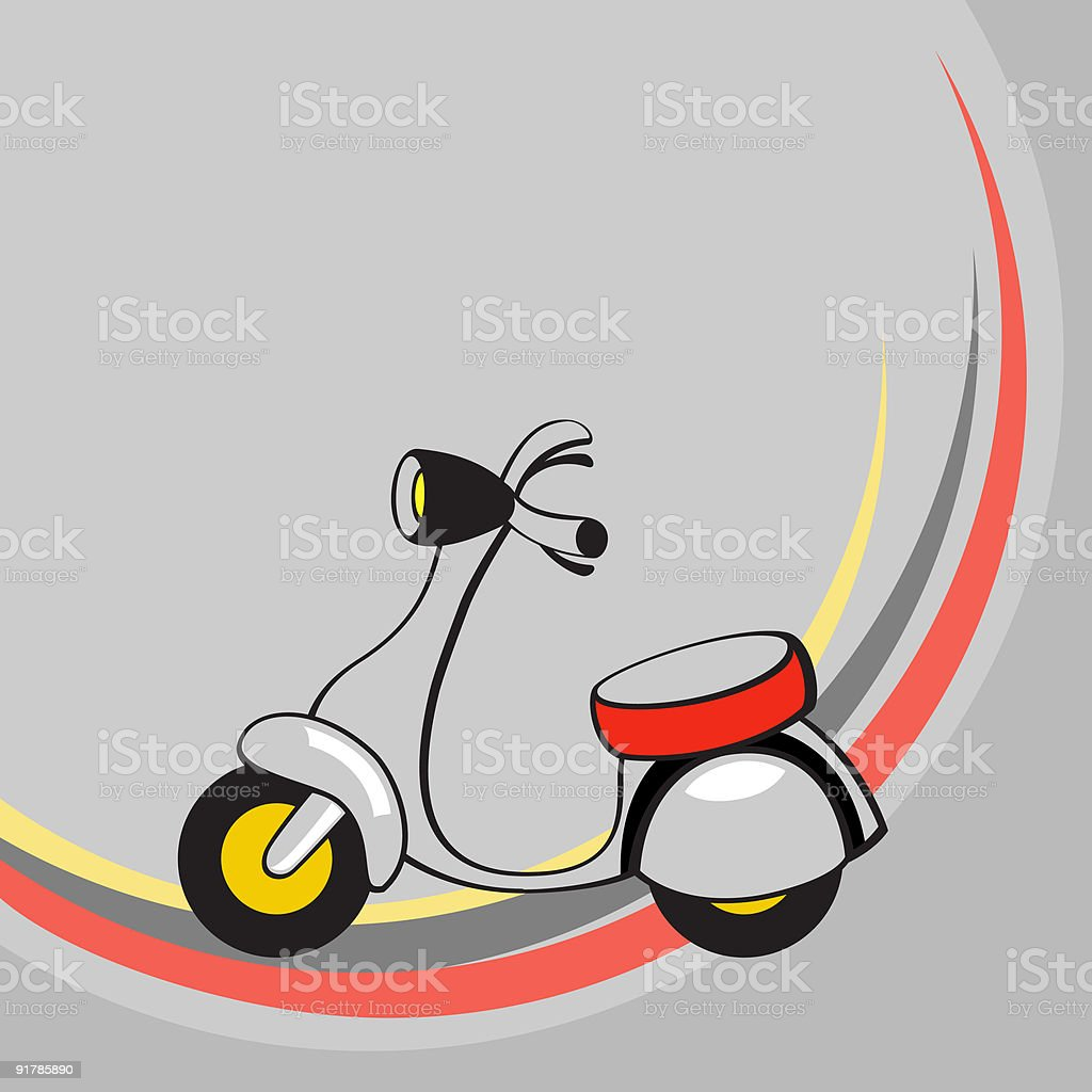 Little funny scooter royalty-free stock vector art