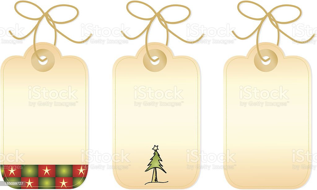 Little Gift Tags royalty-free stock vector art