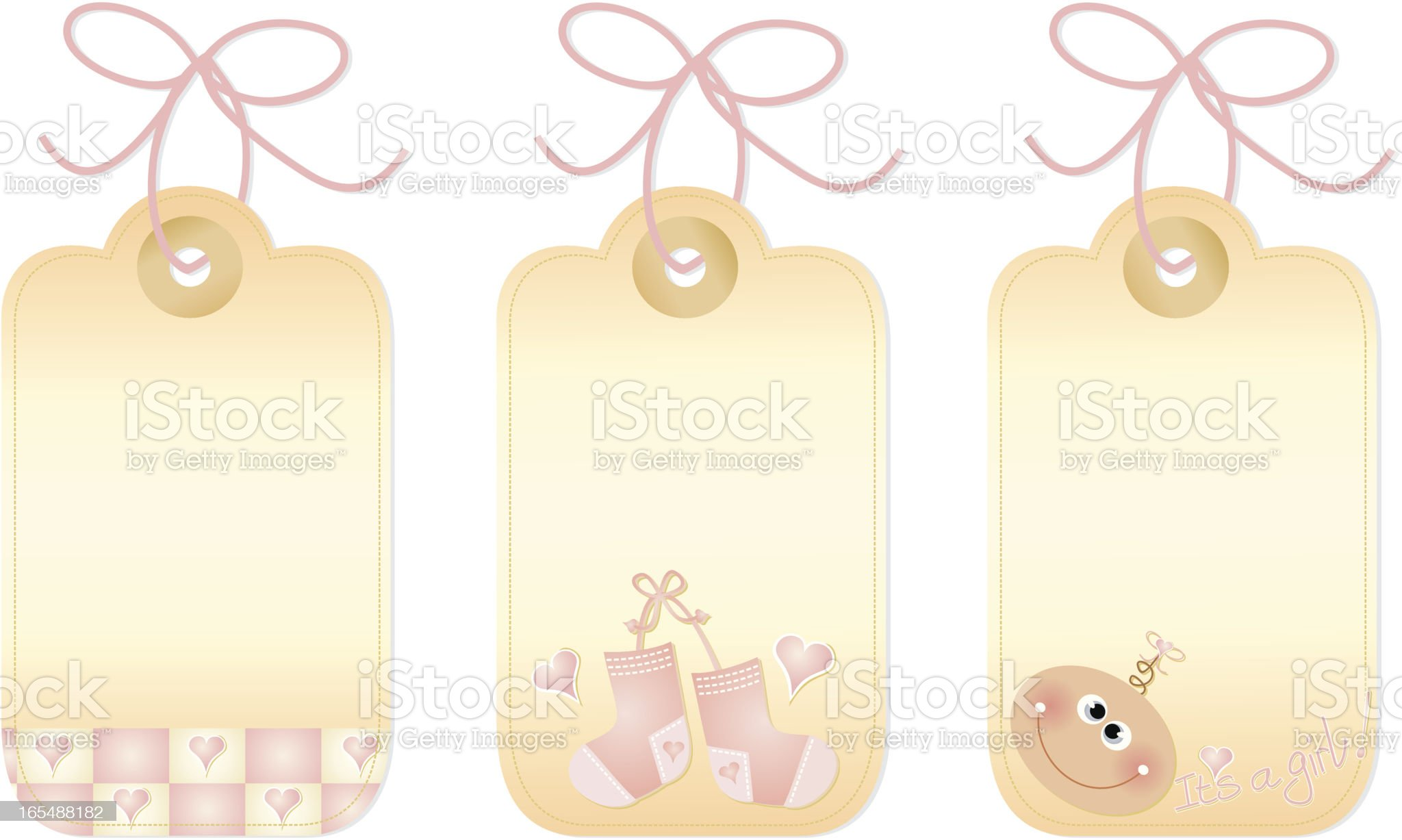 Little Girl Gift Tags royalty-free stock vector art