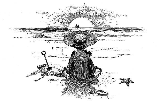 Line Art Of Sun : Girls sun hat pictures clip art vector images & illustrations istock