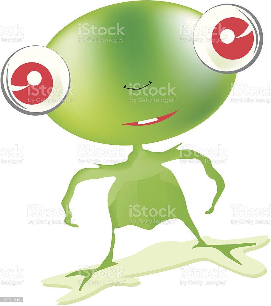 Little Green Alien royalty-free stock vector art