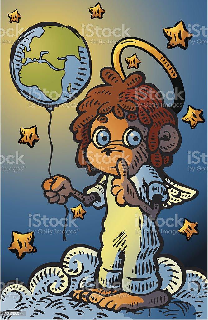 Little Guardian Angel royalty-free stock vector art