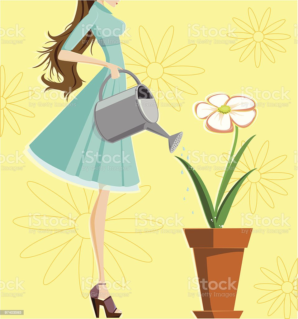 Little help to mother nature royalty-free stock vector art