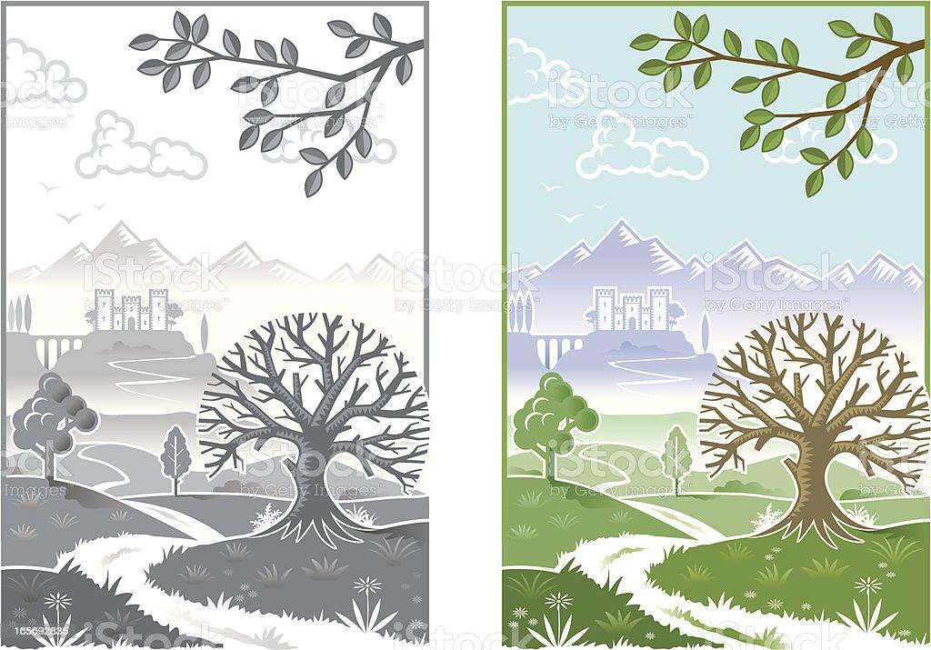 Little landscape royalty-free stock vector art
