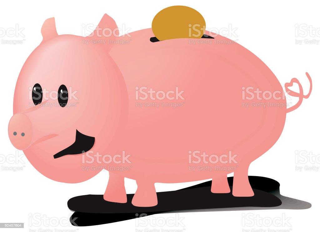 Little Piggy vector art illustration