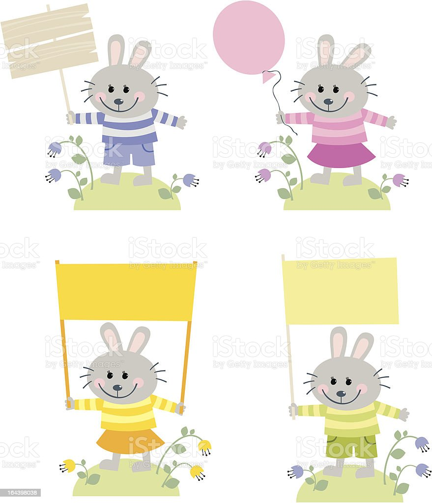 little rabbits royalty-free stock vector art