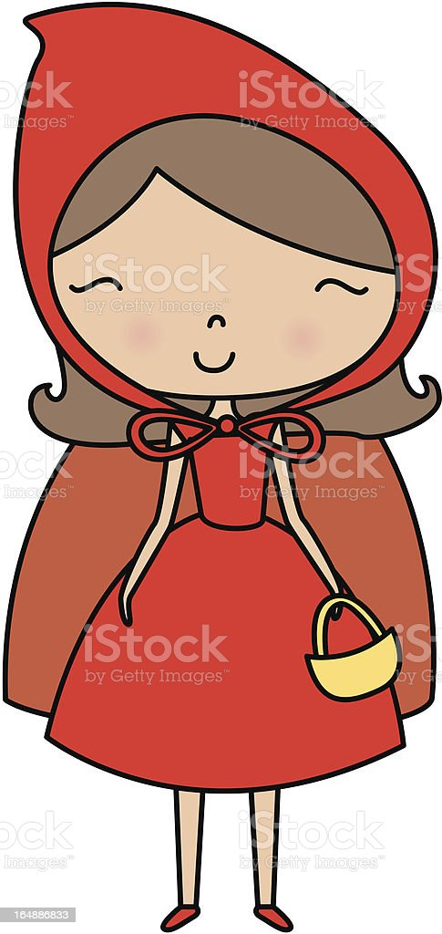 little red riding hood royalty-free stock vector art