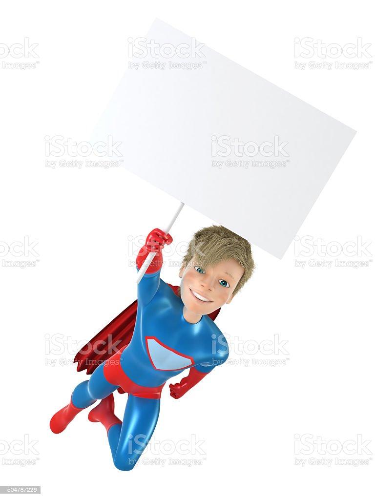 Jeunes super-héros posant stock vecteur libres de droits libre de droits