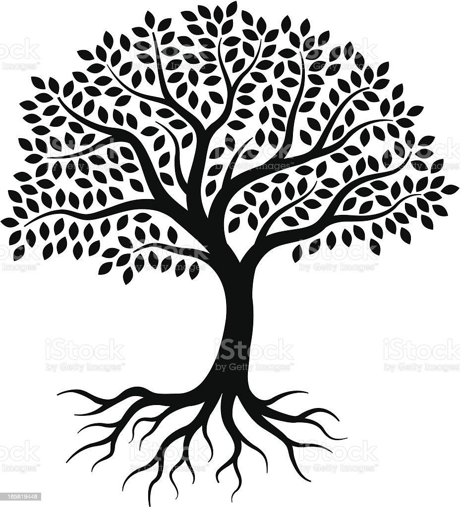 Little tree vector art illustration