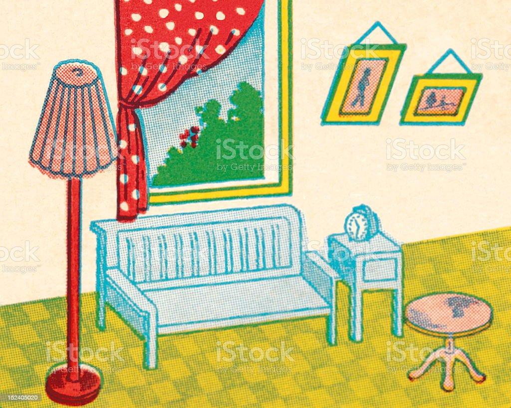 Living Room royalty-free stock vector art