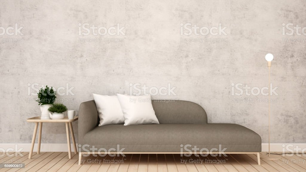 living room in  apartment or hotel vector art illustration