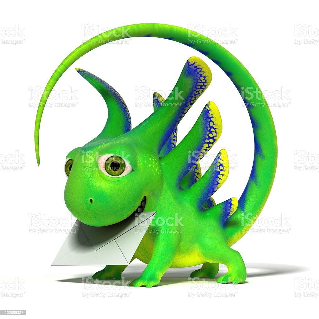 Lizard postman royalty-free stock vector art