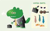 Lizard/Dinosaur Businessman