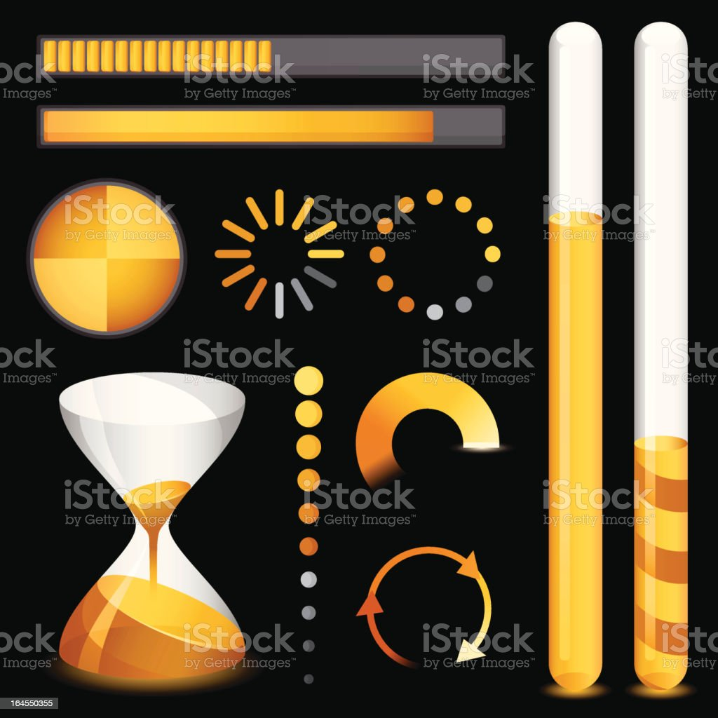 Loading Elements royalty-free stock vector art