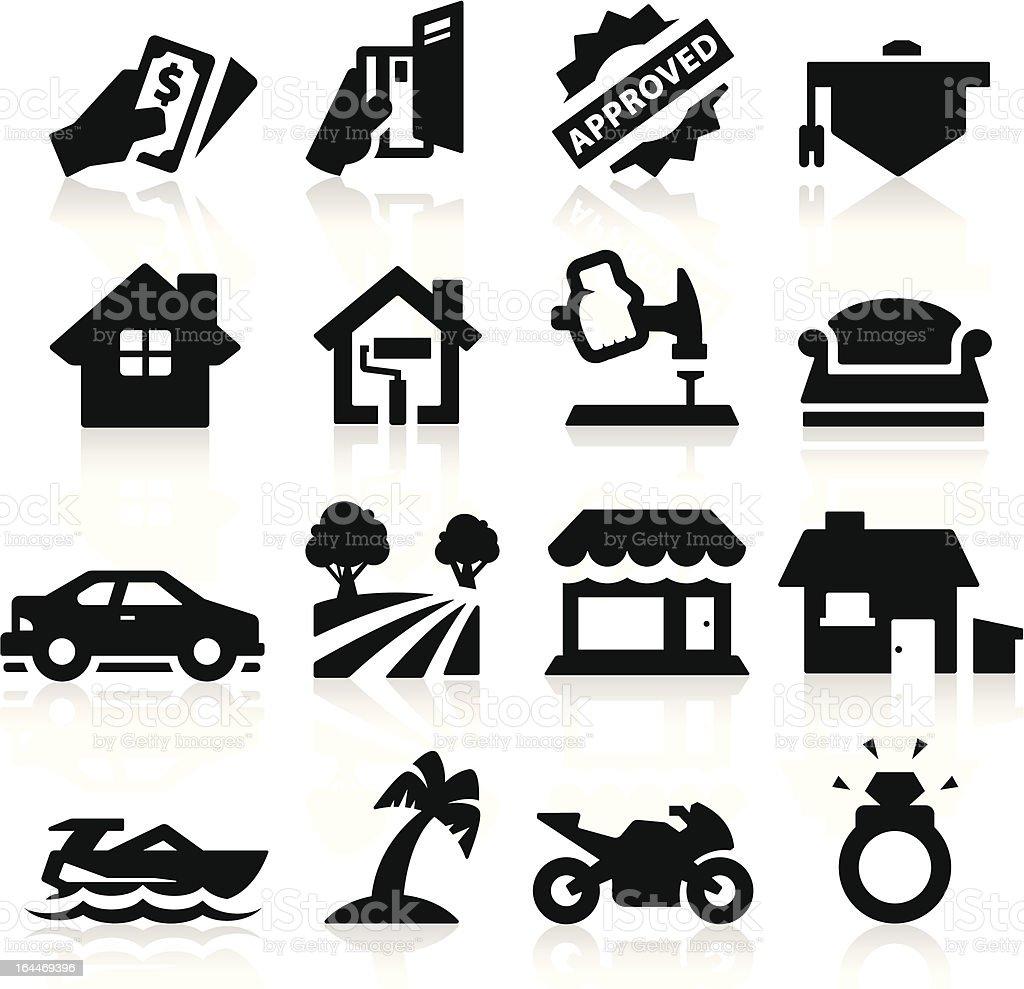 Loan Type icons vector art illustration