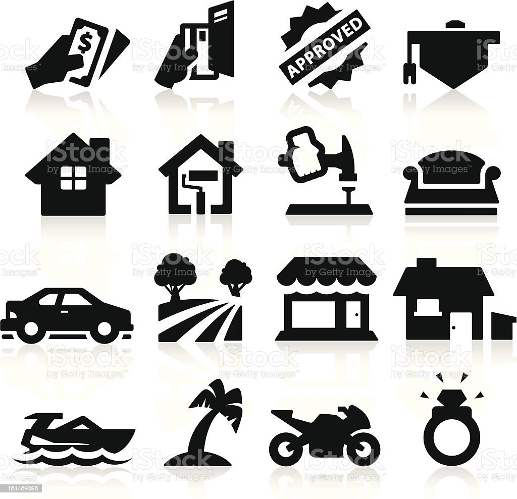 Loan Type icons vector art illustration