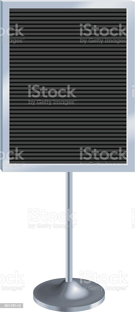 Lobby pedestal sign vector art illustration