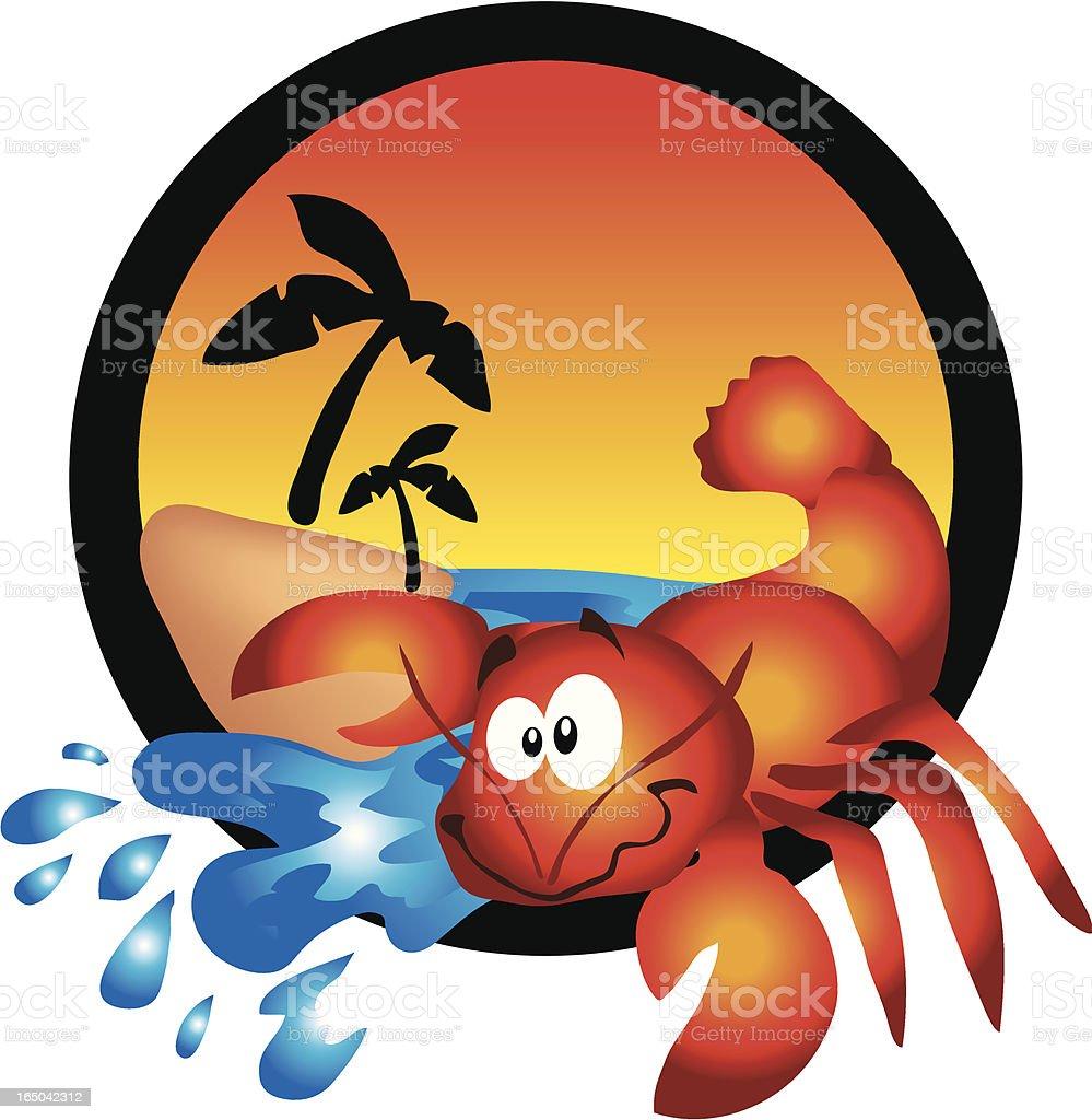 Lobster Beach royalty-free stock vector art
