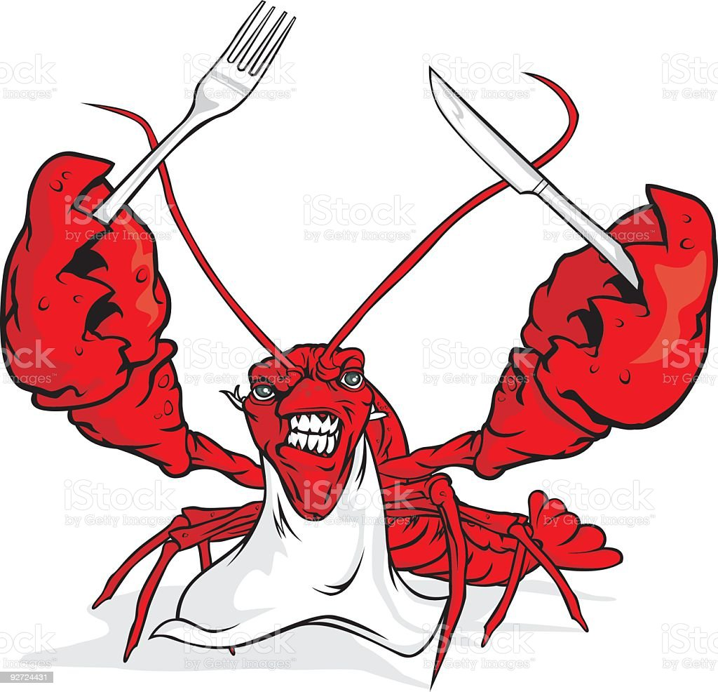 Lobster Lunch royalty-free stock vector art