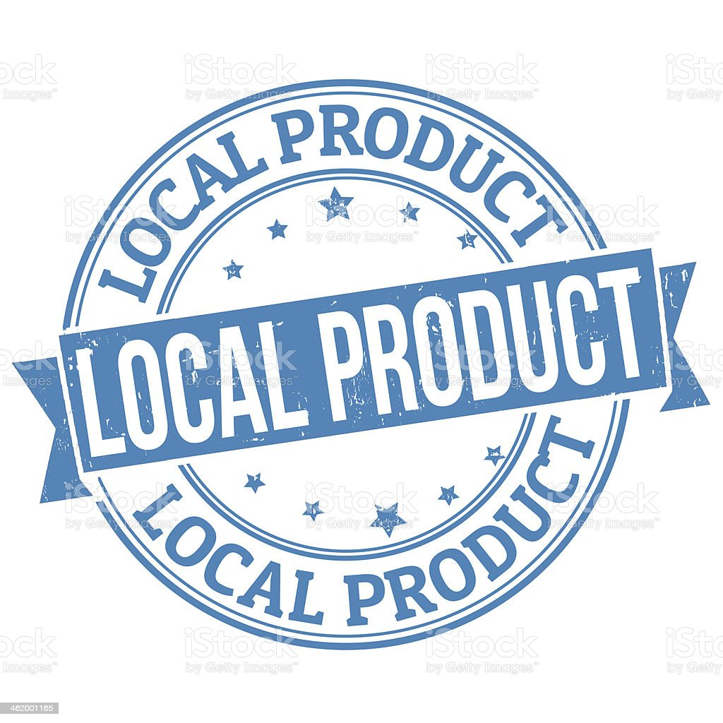 Local product stamp vector art illustration