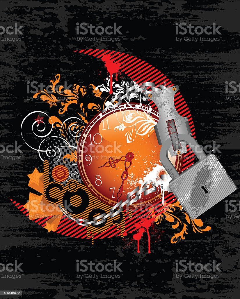 Locked Time royalty-free stock vector art