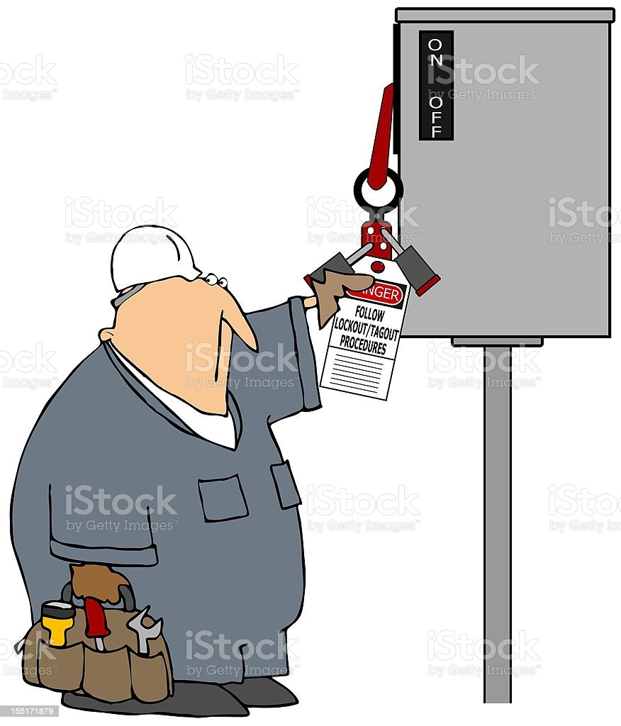 Lockout Tagout royalty-free stock vector art