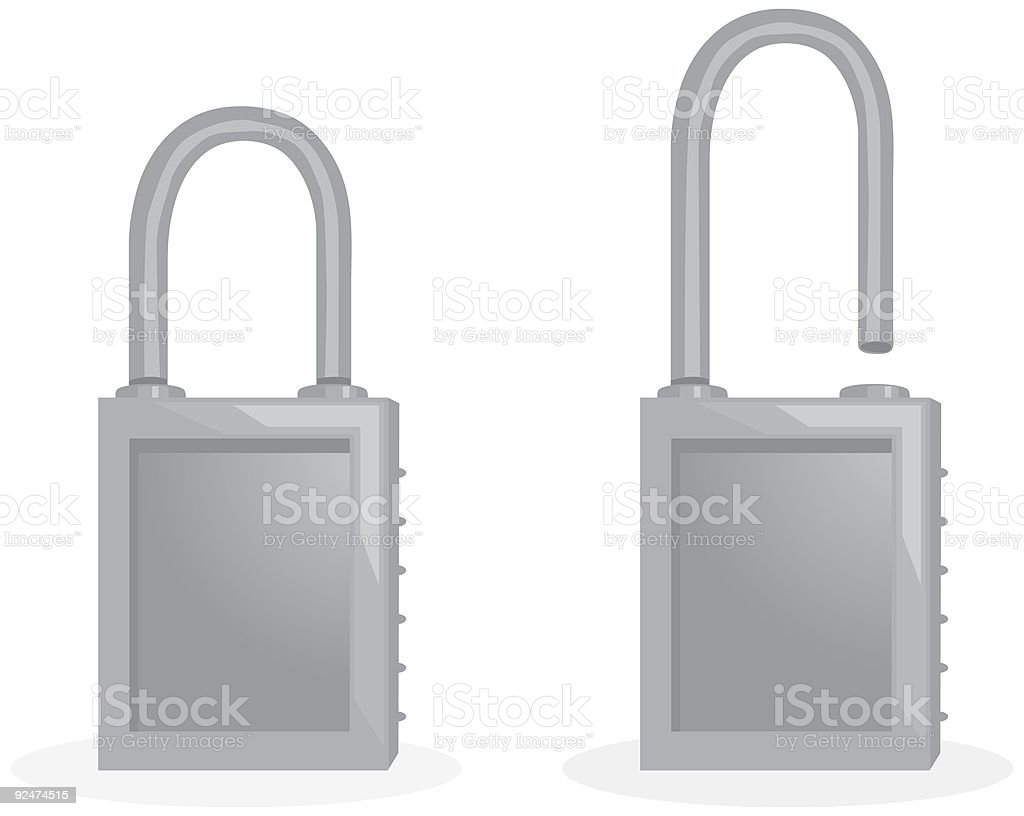 Locks vector art illustration