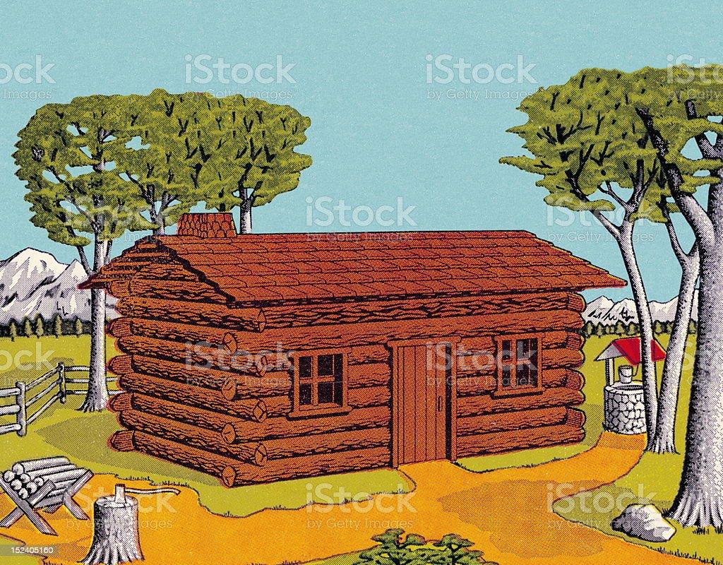 Log Cabin royalty-free stock vector art