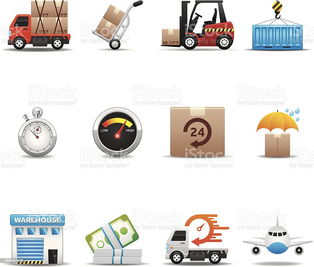 Logistics Icon Set | Elegant Series vector art illustration