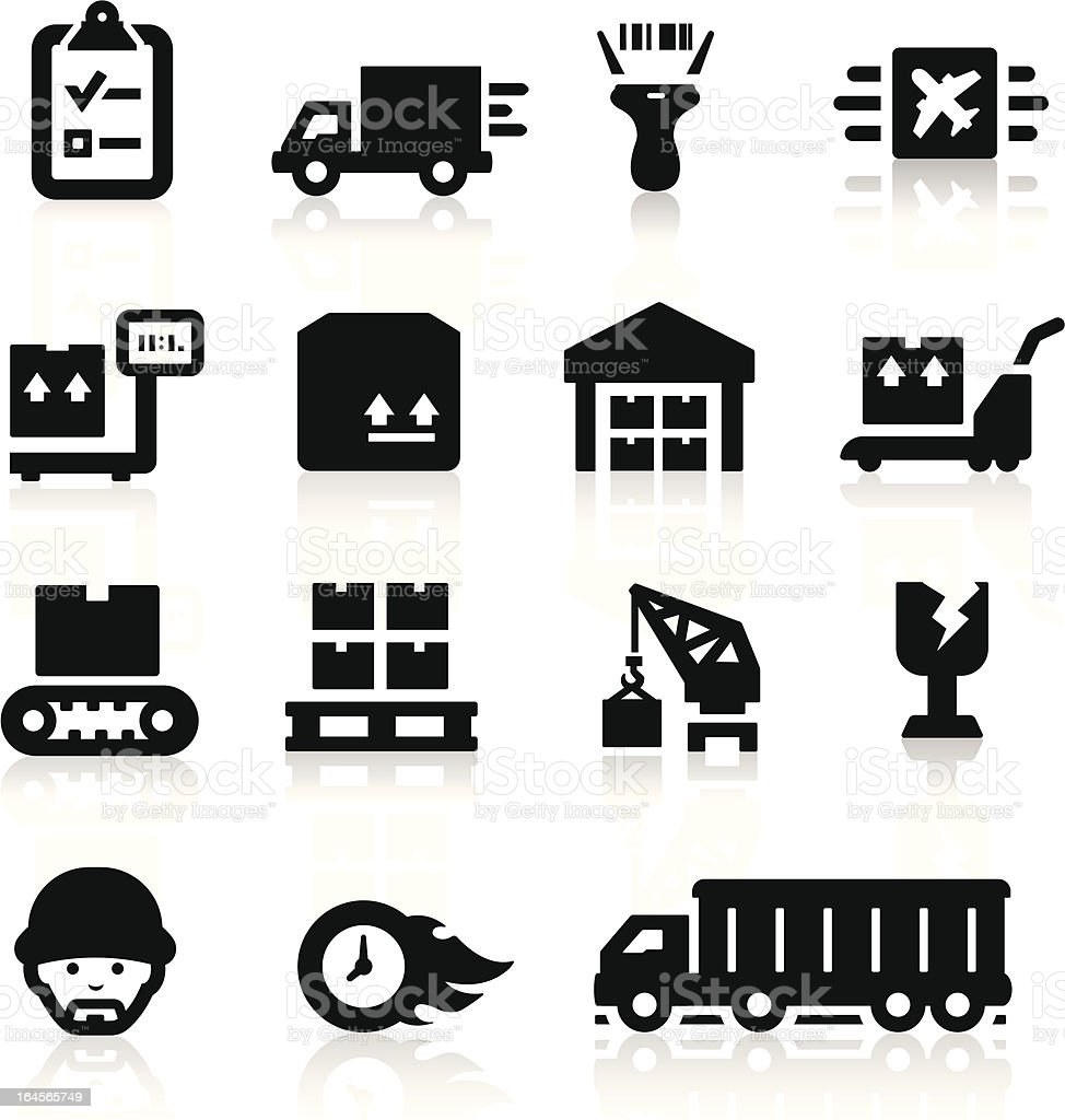 Logistics icons set royalty-free stock vector art