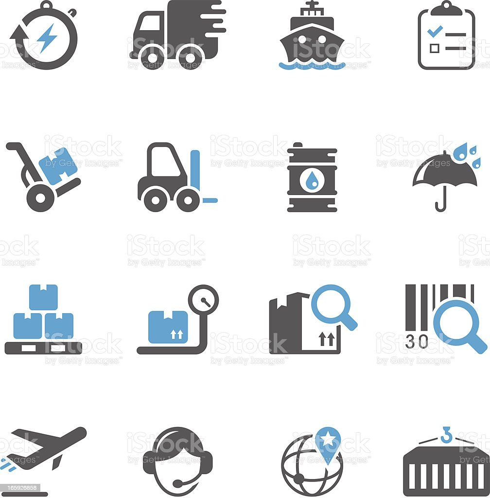 Logistics & Shipping Icon Set - Concise Series vector art illustration