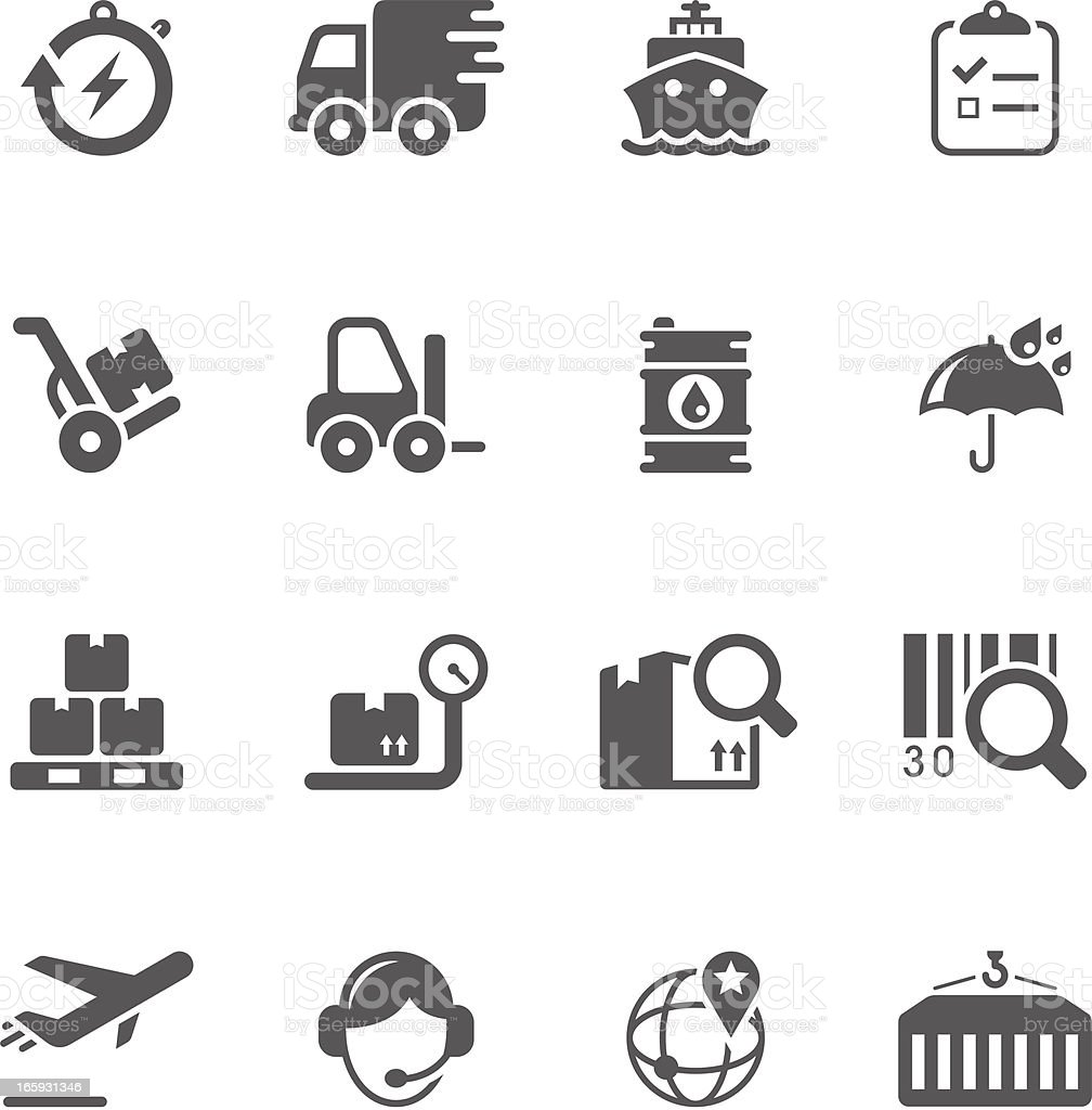 Logistics & Shipping Icon Set | Unique Series royalty-free stock vector art