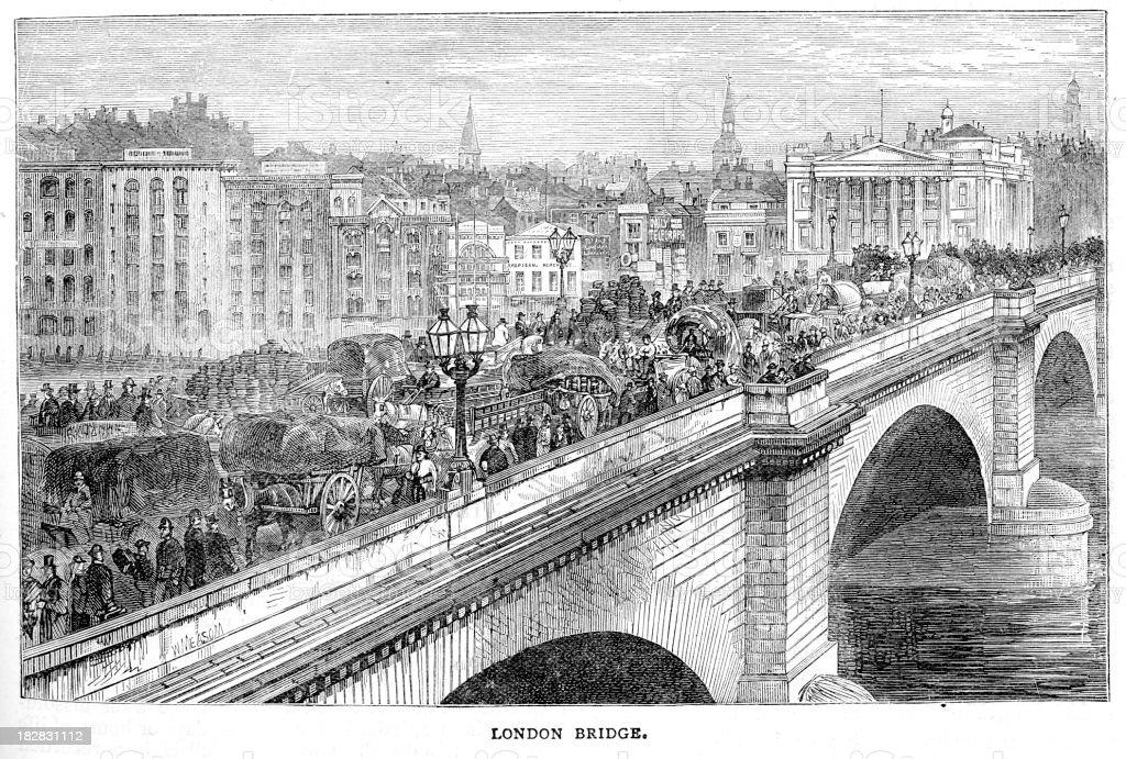 London Bridge royalty-free stock vector art