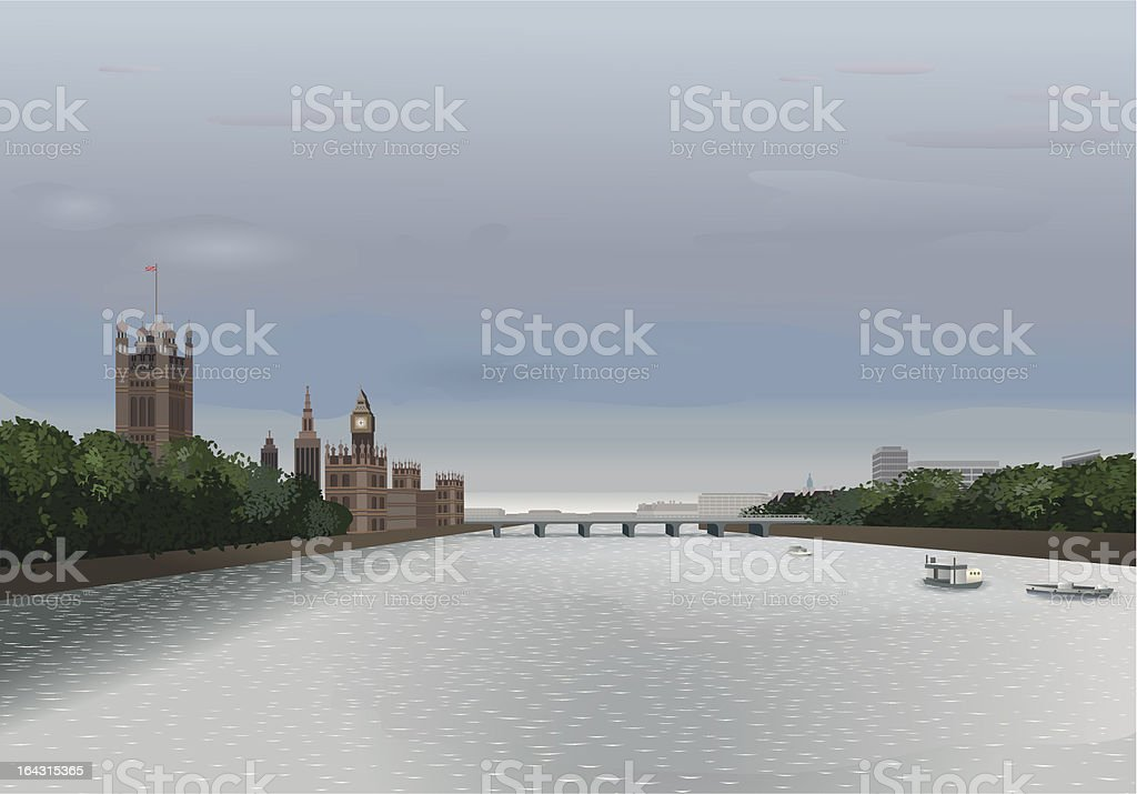 London - Thames View royalty-free stock vector art