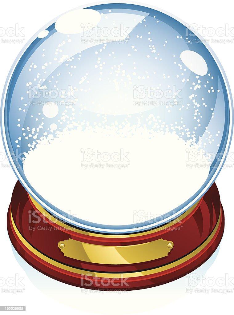 lone snowglobe royalty-free stock vector art
