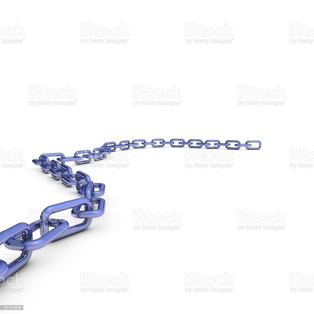 Long blue chain royalty-free stock vector art