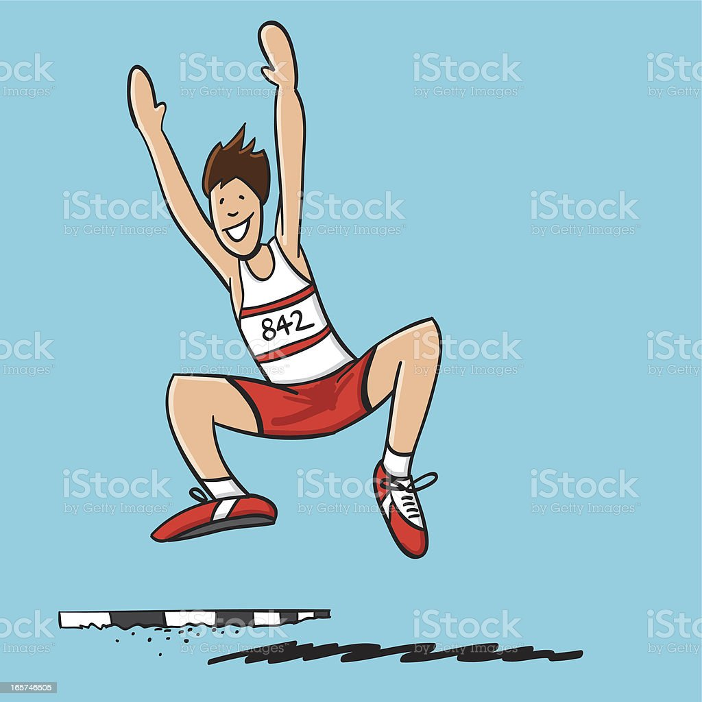 Long Jump Athlete royalty-free stock vector art