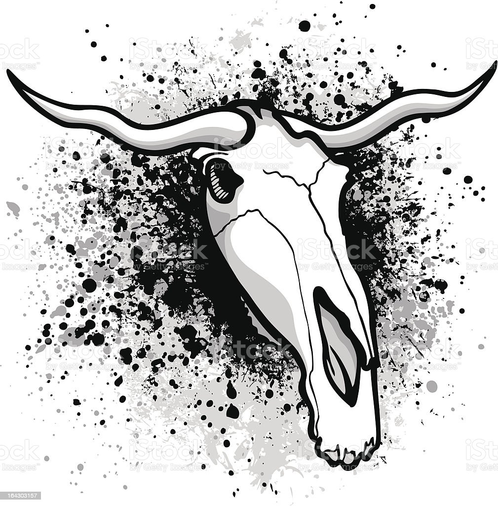 Longhorn bull graphic royalty-free stock vector art