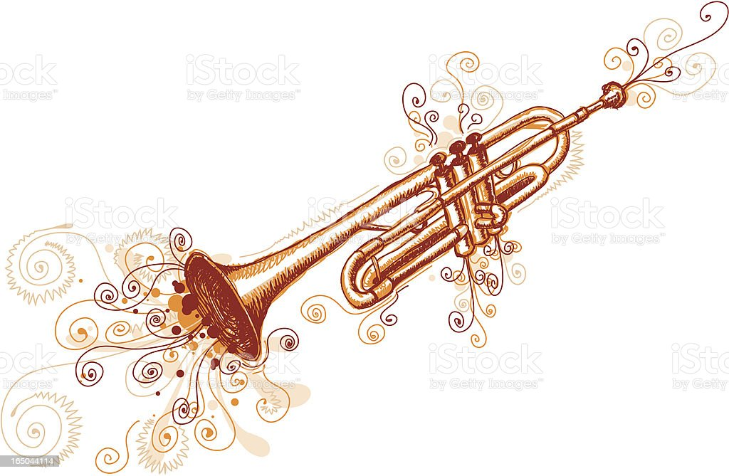 Loose  Trumpet royalty-free stock vector art