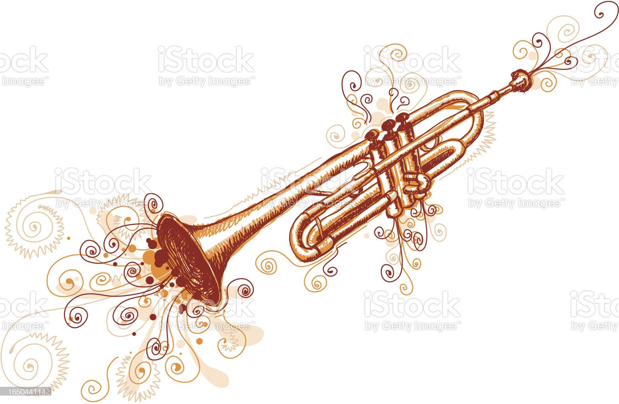 Loose  Trumpet royalty-free stock vector art