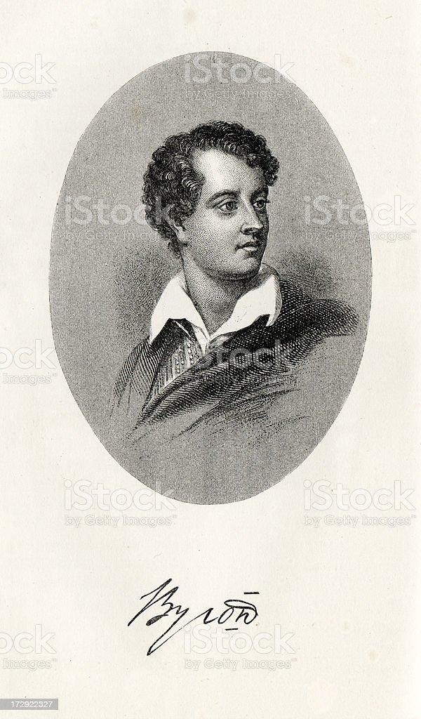 Lord Byron vector art illustration