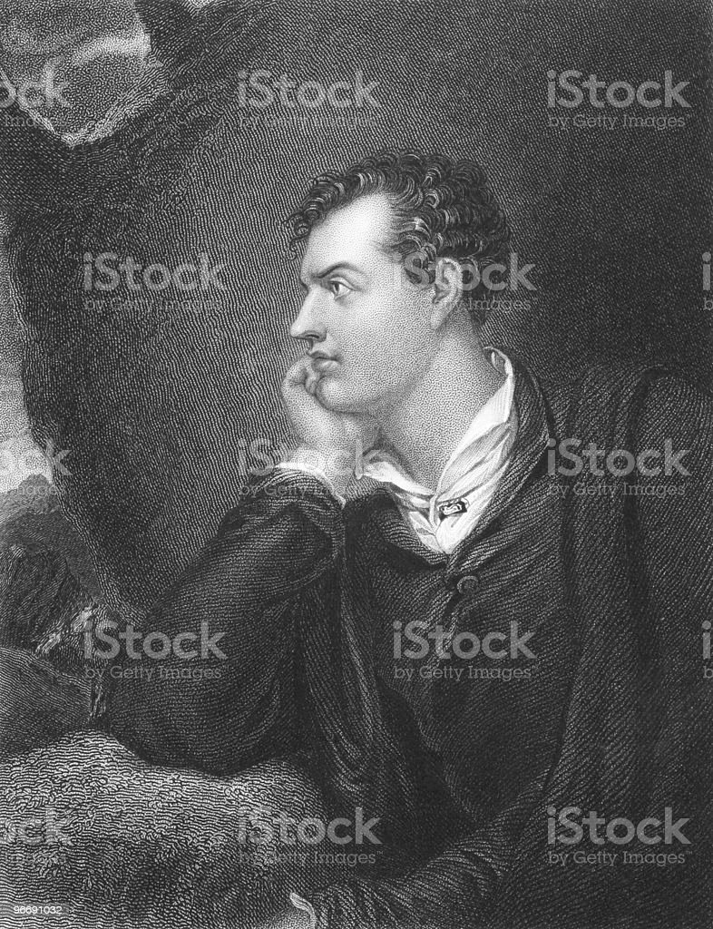 Lord Byron royalty-free stock vector art