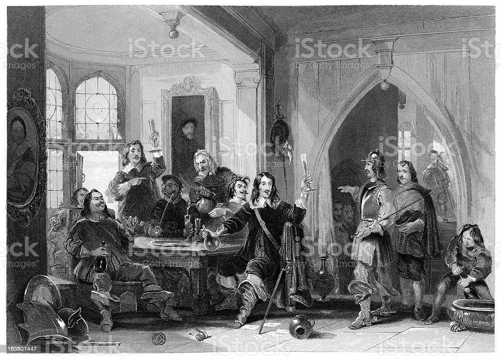 Lord Goring Carousing royalty-free stock vector art