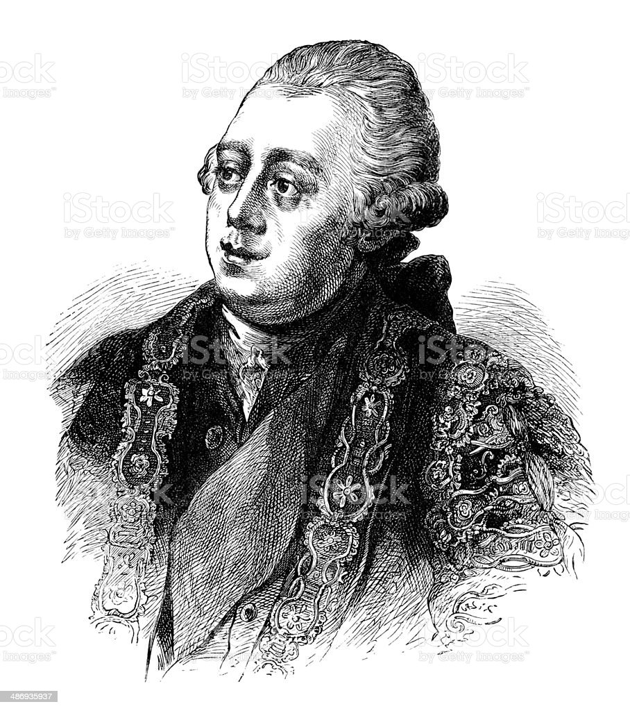 Lord North, Earl of Guildford royalty-free stock vector art